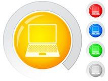 Abotoa o portátil Imagem de Stock