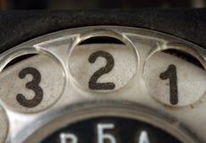 Abotoa o telefone velho imagem de stock
