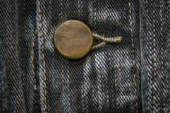 Abotoado revestimento preto e cinzento da sarja de Nimes imagens de stock