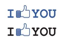 Abotoe como o facebook Imagem de Stock Royalty Free