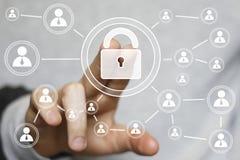 Abotoe o ícone em linha da indústria da segurança da Web do fechamento imagem de stock royalty free