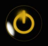 Abotoe o amarelo da potência Foto de Stock Royalty Free