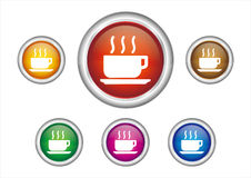 abotoe o ícone Imagens de Stock Royalty Free