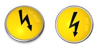 Abotoe o símbolo da eletricidade Fotografia de Stock Royalty Free