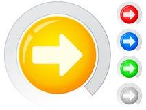 Abotona la flecha derecha Imagen de archivo libre de regalías