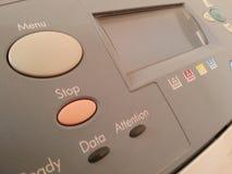 Abotona la impresora Foto de archivo libre de regalías