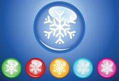 Abotona los copos de nieve Fotos de archivo libres de regalías