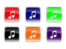 Abotona música Imagenes de archivo