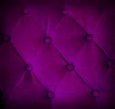 Abotonado en el fondo violeta de la repetición del sofá de la textura Imágenes de archivo libres de regalías