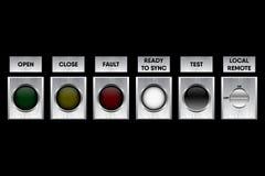 Abotone el dispositivo de distribución y el símbolo de la operación del panel del regulador, Vect libre illustration