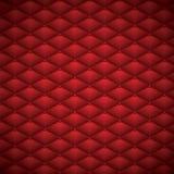 Abotone el ejemplo de lujo abstracto de cuero rojo del vector del fondo Fotografía de archivo