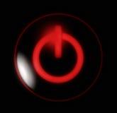 Abotone la potencia roja Fotos de archivo