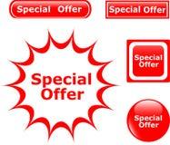 Abotone los iconos brillantes de la oferta especial Imagen de archivo libre de regalías