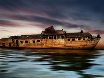 Abounded rusty boat Stock Photography