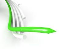 aboutir vert de câble au-dessus du blanc illustration libre de droits