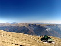 Above all. Mountain shelter above 2100m alt. in Carpats Mountains, Romania, Europe stock illustration