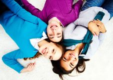 Friends on the floor Royalty Free Stock Photos