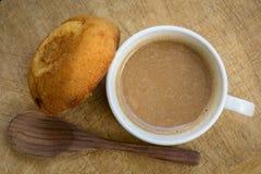Above, aroma, background, baked, beverage, black, breakfast, bro Stock Image