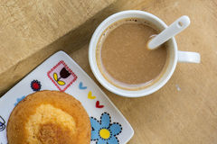 Above, aroma, background, baked, beverage, black, breakfast, bro Royalty Free Stock Photography