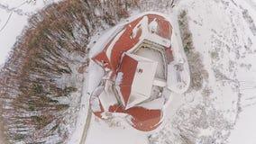 Above castle Veliki Tabor in Croatia stock video