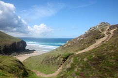 Above Chapel Porth. Royalty Free Stock Photo