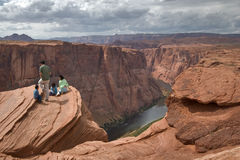 Above a chasm. Stock Image
