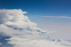 Above cloud blue sky background only Stock Photo