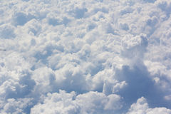 Above cloud blue sky background only Stock Photography