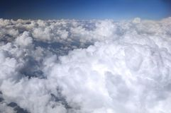 Above clouds stock photo