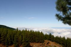 Above the clouds. On mountain top of El Teide - Teneriffe Stock Image