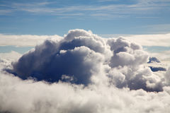 Above clouds. An aerial photo of clouds from above Royalty Free Stock Image