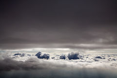 Above clouds. An aerial photo of clouds from above Royalty Free Stock Photography