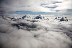 Above clouds. An aerial photo of clouds from above Royalty Free Stock Photo