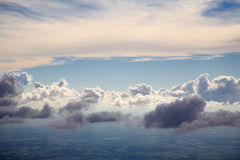 Above the clouds. An aerial photo of clouds from above Stock Photo