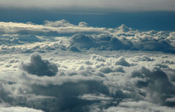 Above clouds. Clouds in the morning.View from airplane Royalty Free Stock Images
