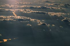 Above the Clouds. Sunrise or sunset above the clouds Royalty Free Stock Photos