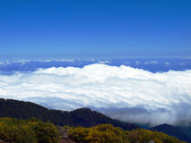 Above the clouds. Scenic View of the clouds Stock Photo