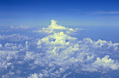 Above the Clouds. Looking DOWN at clouds from a jet (12MP camera Stock Images