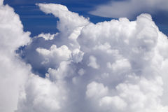 Above the Clouds. View of different types of clouds taken from a plane Royalty Free Stock Photography