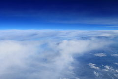 Above the clouds. Blue sky with white clouds Stock Image