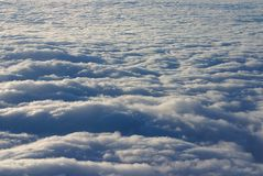 Above the clouds. Higher than the sky - soft clouds Royalty Free Stock Photo