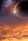 Above the Clouds. An astral/galaxy scene for artists to use in their artwork Stock Photography