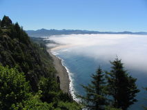 Above the clouds. A cloudy day in North West Oregon coast Stock Photo