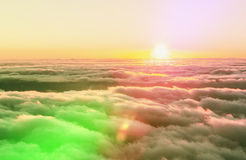 Above clouds Royalty Free Stock Photo