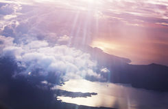 Above clouds Royalty Free Stock Image