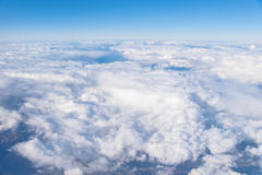 Above the Clouds. And Blue Sky Stock Image