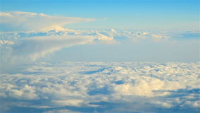 Above The Clouds Blue Sky View From Airplane stock video