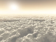 Above the clouds. Boundless freedom above the clouds Stock Image