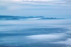 Above the clouds. On Buzludzha peak stock image