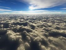 Above the clouds - cloudscape stock illustration